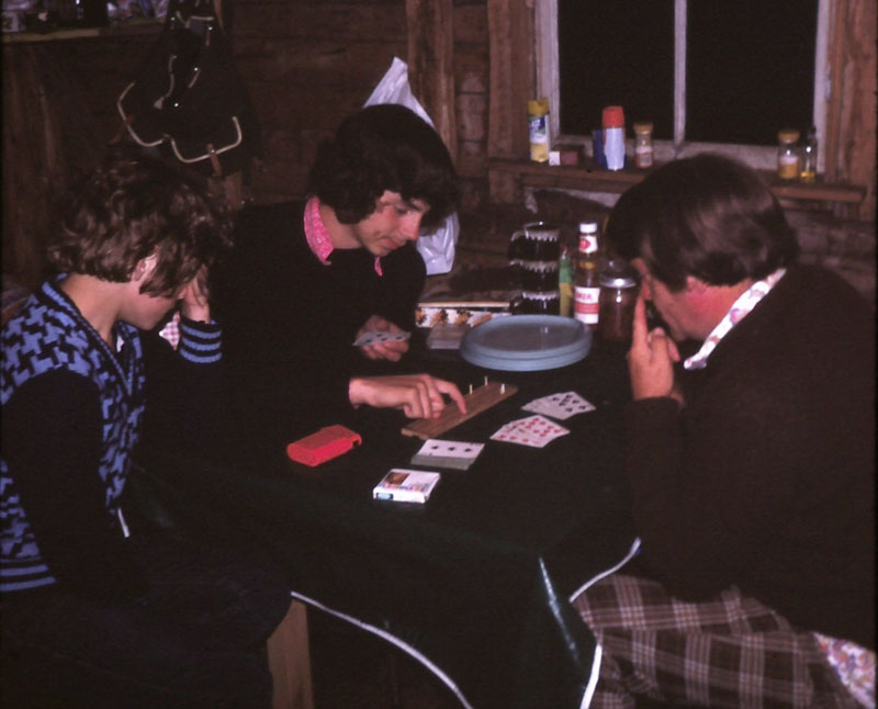 Photo of Dave and Dad playing cribbage